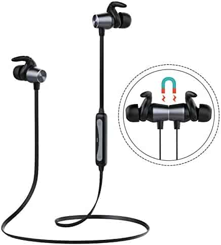 31d6a3d3ba2 Bluetooth Headphones, Bluetooth V4.2 Sweatproof Headsets, Noise Cancelling  Wireless Headset with Mic
