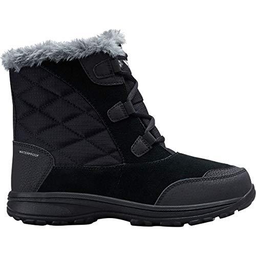 Columbia Women's ICE Maiden Shorty Snow Boot, Black, Grey, 6 Regular US