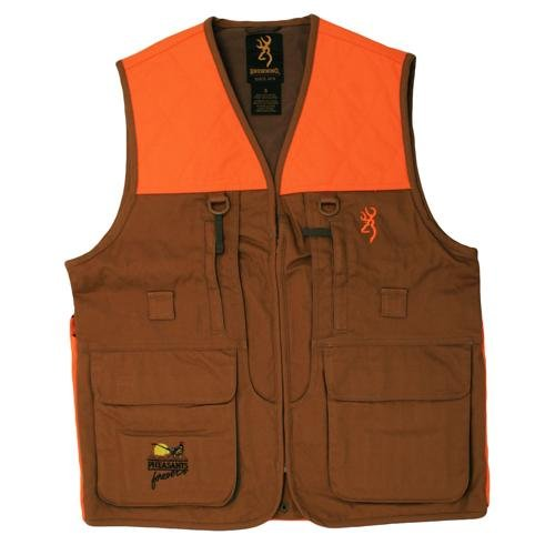 Browning Pheasants Forever Upland Vest, Field Tan, 3X-Large
