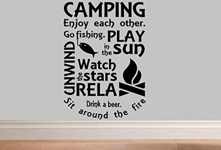 Camping Quote Wall Decal made our list of Inspirational And Funny Camping Quotes