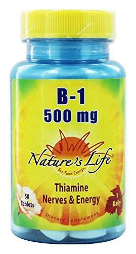 Nature's Life B-1 Tablets, 500 Mg, 50 Count