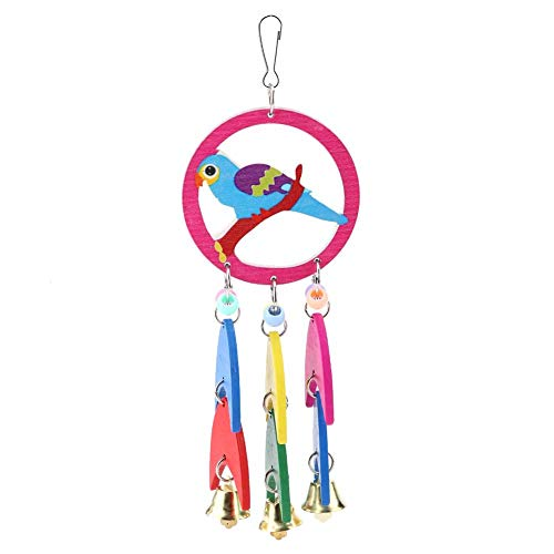 HEEPDD Pet Parrot Chew Toy, Edible Coloring Natural Wooden Bite Grinding Toys Hanging Bird Crafts Swing Beak Care Activity Centre Play Cages Bird Decorative Accessories