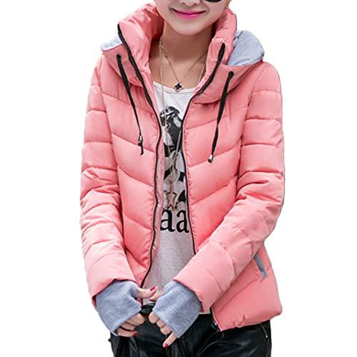 Abbigliamento Nuovo Vestibilità Rosa Cappotto Guanti Breve Caldo Huicai Autunno Femminile Paragrafo E Inverno Mantieni Slim 7wn4Iq6t