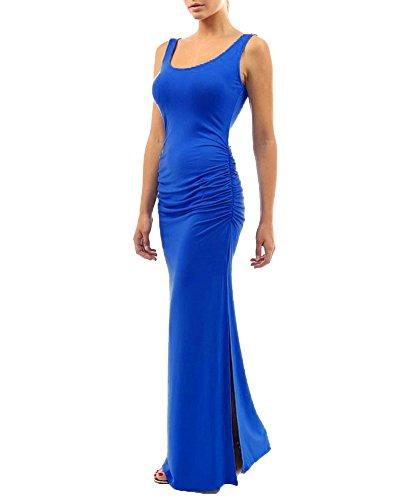 Lunghi Formale Vestiti Blu Donna Sera Abito Elegante Banchetto Zaffiro Vestito Uaxxtqwn