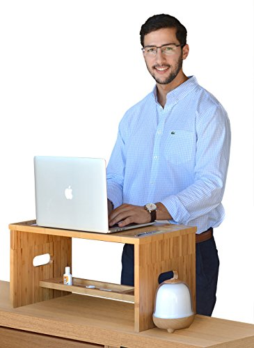 Standing Relief Bamboo Organizer Monitor product image