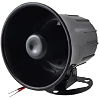 DC 12V 20W Replacement One Tone Car Security Alarm Siren Horn Black
