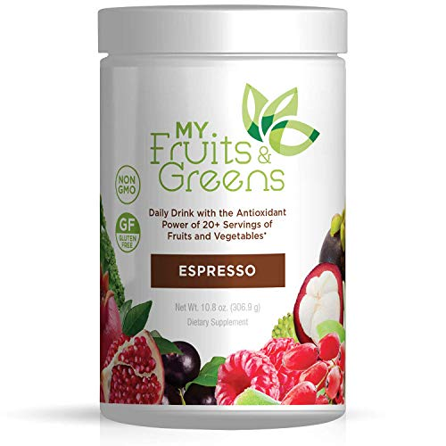 My Fruits and Greens Superfood Powder - Amazing Daily Probiotic Supplement Mix for Smoothie, Athletic Drinks and Dynamic Super Food Juice - Powdered Kale, Vegetables, Antioxidants - 30 Servings ()