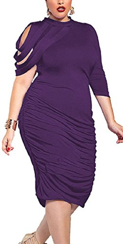 Sorrica-Womens-Elegant-Ruched-Bodycon-Party-Cocktail-Dress-Plus-Size