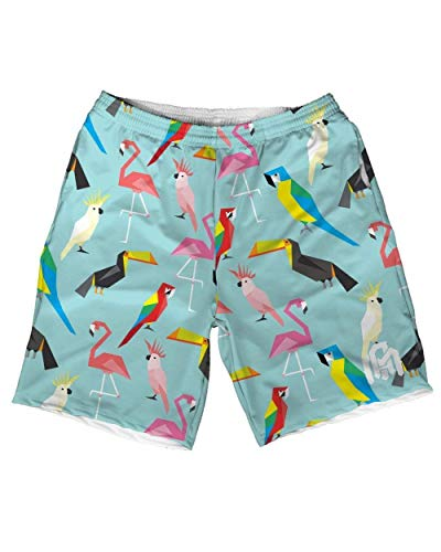 INTO THE AM Acute Jungle Men's Casual Athletic Shorts (32) (Dri Fit Board Shorts)