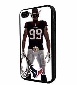 diy zhengNFL Houston Texan Watt , Cool iPhone 6 Plus Case 5.5 Inch / Smartphone iphone Case Cover Collector iphone TPU Rubber Case Black
