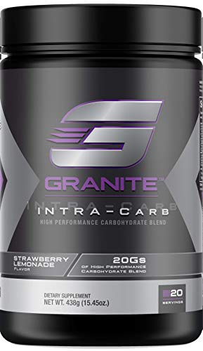 Carb Supplement by Granite Supplements: 20 Servings of Intra-Carb Strawberry Lemonade to Train Longer and Harder, No Crash or Upset Stomach | Includes Cyclic Dextrin, Isomaltulose, and Dextrose -438g