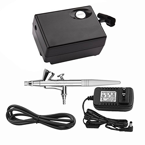 Yenny Shop Airbrush Makeup Kit Beauty Special air Compressor Black Suit,Cosmetic Makeup Airbrush and Compressor System for Face, Nail, Temporary Tattoos, Cake Decorating by Yenny shop