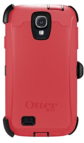 OtterBox 77-27770 'Defender Series' Protective Case for Samsung Galaxy S4 Phone - Raspberry (Retail Packaging from OtterBox)