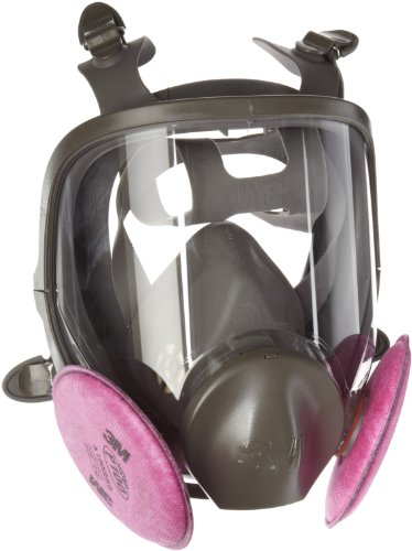 Full Face Protector - 3M Mold Remediation Respirator Kit 68097, Medium (Includes a 3M Full Facepiece 6000 and two pairs of 3M Particulate Filters 2097, P100)
