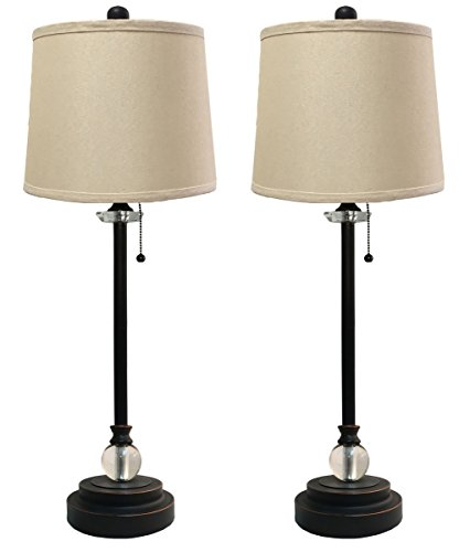 Royal Designs LS-1001ORB-2 Buffet Oil Rub Linen Beige Hardback Lamp Shades, 27