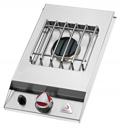 Delta Heat Dhsb1dbn Natural Gas Built In Single Side Burner With One 16 000 Btu Sealed Burner In Stainless Steel Finish With Stainless Steel Top
