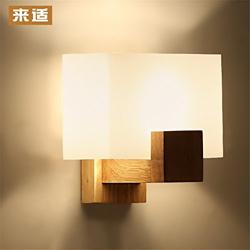 Industrial Vintage Wall Sconces Japanese Wall Lights Chinese Yuen Off The Road Wall lamp Bedroom Bedside lamp led Solid Wood logs - Stainless Steel Wood Log Basket