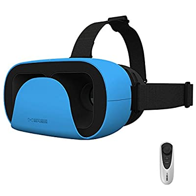 MOJING 3D Glasses VR Virtual Reality Headset for Samsung Sony (Android Kit Version) - Blue