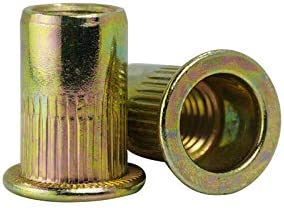 Luchang M3 M4 M5 M6 M8 M10 Tuercas moleteadas de acero al carbono chapadas en zinc remache de cabeza plana con remache roscado
