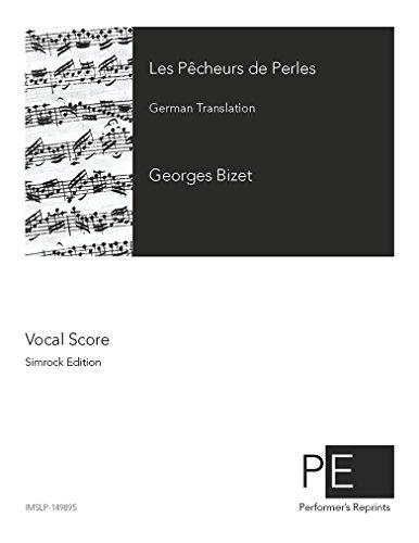 Les pêcheurs de perles - Vocal Score by Performer's Reprints