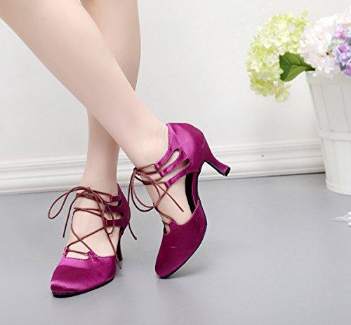 Minitoo Salon Heel femme 5cm Purple 7 Danse de qSqRZ7