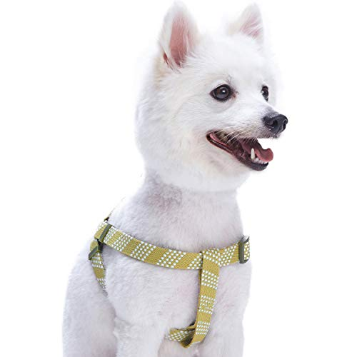 Blueberry Pet 4 Colors Step-in Artisan Crochet Inspired Endless Squares Dog Harness, Chest Girth 26