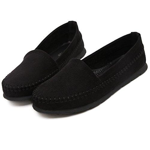 SmilunWbfj002 - Zapatillas de casa Mujer negro