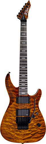 B.C. Rich VLDLXTE Villain Deluxe Solid-Body Electric Guitar, Tiger Eye