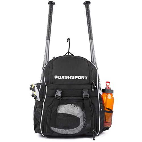 DashSport Baseball Bag Softball Backpack Bat Bag for Youth and Adults | Kids T-Ball Equipment and Softball Bag | Gear for Girls and Boys | Youth Bat Pack - 10 Bat Youth Baseball