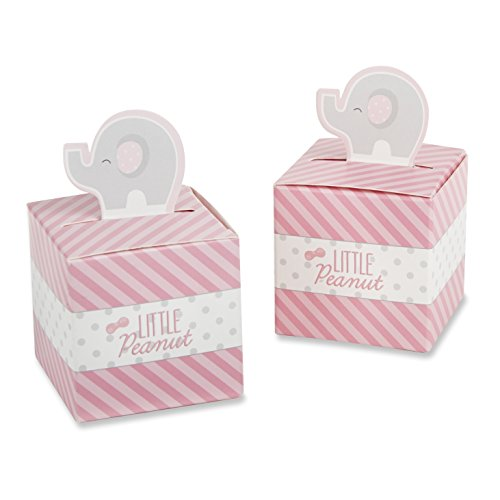 Kate Aspen Little Peanut Elephant Favor Box, Pink ()