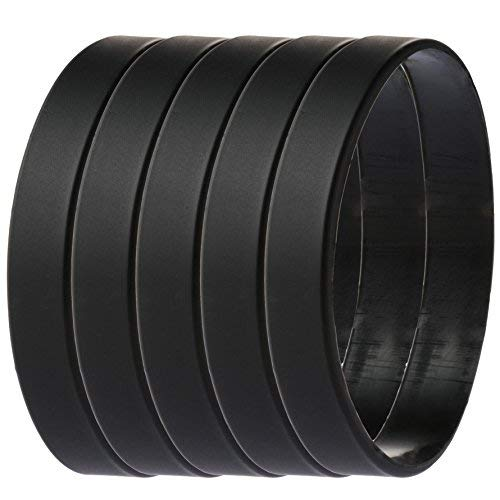 Green House-5pcs Blank Wristband Black Fashion Sports Silicone Wristband Bracelets]()