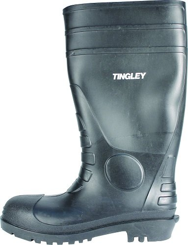 Black Economy Boot Knee (TINGLEY 31151 Economy SZ13 Kneed Boot for Agriculture, 15-Inch, Black)
