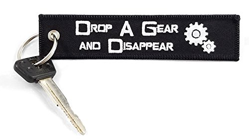CG Keytags - Unique Key Chains for Motorcycles, Scooters, Cars, Gifts, and More (Drop a Gear)