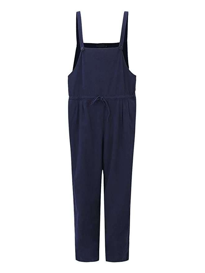 2ce6c9523caa Style Dome Women s Jumpsuit Loose Harem Trousers Wide Leg Pants Baggy  Playsuits Sleeveless Overalls Dungarees  Amazon.co.uk  Clothing