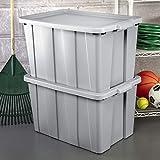 Sterilite 16796A04 Storage Tote, 30 gallon, Cement