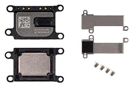 Ear Speaker Earpiece Replacement Repair Part + Metal Bracket Shield Holder Cover + Screws for iPhone 7 7G Model A1660, A1778, A1779 AT&T Tmobile Any Carriers (iPhone 7) ()