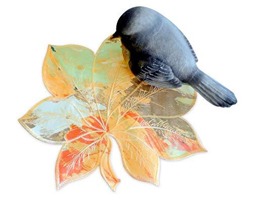 Galleria di Giovanni Fall Autumn Leaves Maple Leaf Doily 12