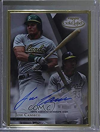 Amazoncom Jose Canseco Baseball Card 2018 Topps Gold Label