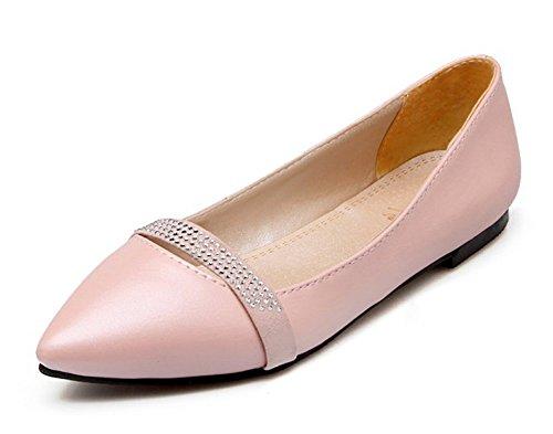 Falda De Corte Bajo Con Cordones Para Hombre, Con Punta De Acero Inoxidable, Para Mujeres, De Conun, Para Trabajar, Slip On Flats Zapatos Rosa
