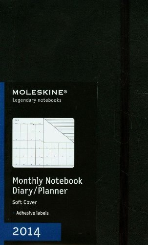 Moleskine 2014 Monthly Planner, 12 Month, Large, Black, Soft Cover (5 x 8.25) (Planners & Datebooks) by Moleskine (2013-05-22) 2013 Large Monthly Planner