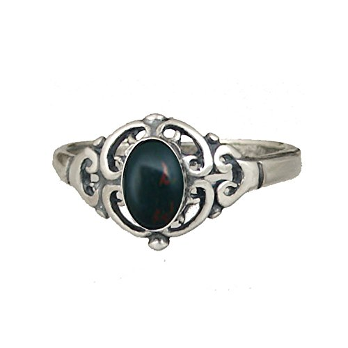 A Delicate Filigree Ring with Chinese Turquoise Sterling Silver Made in America