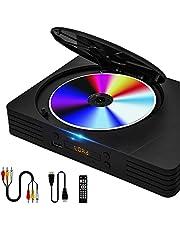 Heegomn Compacte dvd-speler voor tv, gratis dvd-speler voor thuis voor alle regio's met HDMI-kabel en afstandsbediening