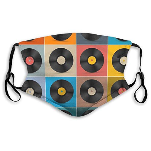 Face Mask Album,Vinyl Record,Music Poster Balaclava Bandanas with Filter for Women Men Personalized