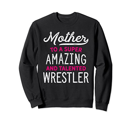 Unisex Wrestling Mother Sweatshirt for Wrestle Moms, Gift, Pink Small Black by Wrestling Shirts and Wrestling Shoes