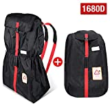 MODOKIT 1680D Durable Stroller Bag for Airplane Travel Gate Check Bag for Stroller with Storage Pouch, Waterproof and Heavy Duty, Fit Most Strollers