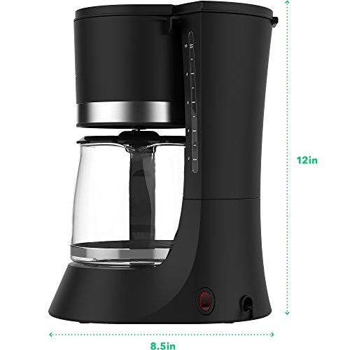 Vremi 10 Cup Coffee Maker - Automatic Hot Water Coffee Maker with Anti Drip Function - Small ...