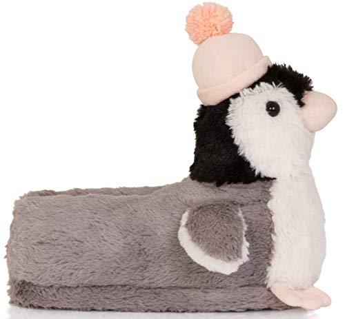 36 Estilos Animal Mujer Pantuflas Diseño Tallas Para pink Varios Con Grey 3d 41 Penguin Hqg00zxwA