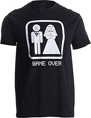 GAME OVER | Funny Bachelor Party, Wedding Groomsman Humor Unisex T-shirt