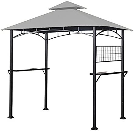 Garden Winds Replacement Canopy for The Tile Grill Gazebo – Riplock 350 – Slate Gray