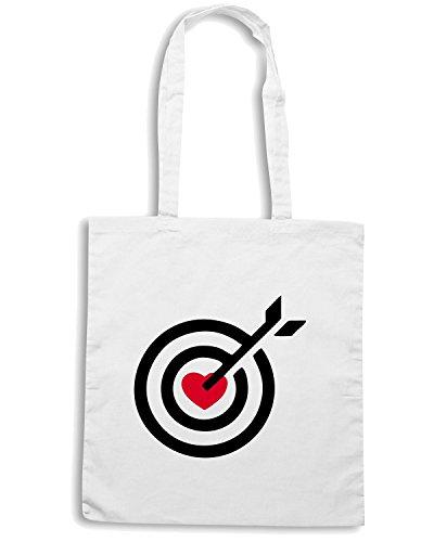 T-Shirtshock - Bolsa para la compra TM0453 heart target Blanco